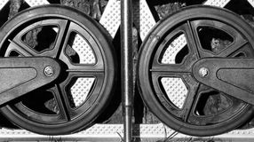 Wheels and steel royalty free stock photos