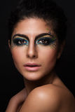 Beautiful closeup portrait of young caucasian fema royalty free stock images