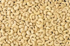 Beautiful closeup shot of cashew-nuts Royalty Free Stock Images
