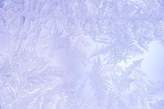 Beautiful Closeup Winter Colorful Background With Icy Frost Patterns Stock Photos
