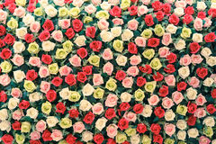 Beautiful cloth artificial flowers for background Royalty Free Stock Photo