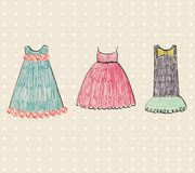 Beautiful clothes. Fashionable beautiful clothes for little girls Stock Images