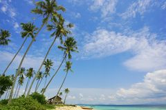 Beautiful cloud. And lovely scenery at the Sibuan Island, Sabah, Malaysia stock images