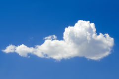 Beautiful cloud. In blue sky royalty free stock photo