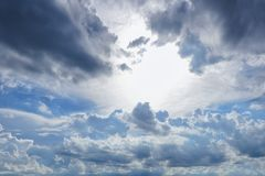 Cloud and blue sky royalty free stock image
