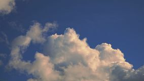 Beautiful cloud in the blue sky.  stock video footage