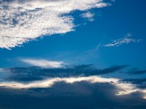 Beautiful cloud on blue sky background. Beautiful expanse of cloudscape in the evening Royalty Free Stock Image