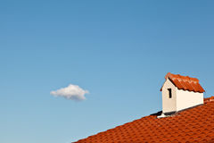 Beautiful Cloud and Dormer Window Stock Image