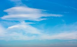 Beautiful cloud formation on a blue sky Royalty Free Stock Photos