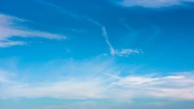 Beautiful cloud formation on a blue sky Stock Photo