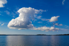 Beautiful cloud formation over the sea Stock Image