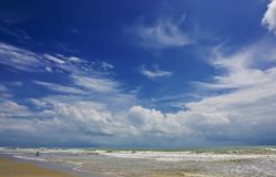Beautiful cloud at lonely beach Royalty Free Stock Images