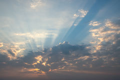 Beautiful cloud over blue sky Stock Image