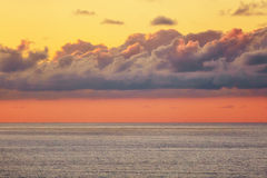 Beautiful cloud over the sea at sunset Stock Image