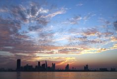 Beautiful cloud pattern during sunet at Bahrain Royalty Free Stock Image
