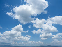 Beautiful cloud scape on blue sky background Stock Photo
