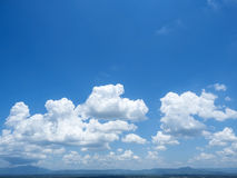 Beautiful cloud scape on blue sky Royalty Free Stock Photo