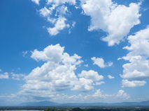 Beautiful cloud scape on blue sky Royalty Free Stock Images
