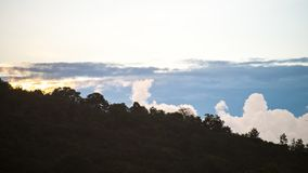 Beautiful cloud shapes on the bue bright sky. As background royalty free stock image