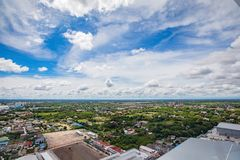 Beautiful cloud and sky in the city Stock Photos