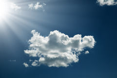 Beautiful cloud in the sky with sunbeam Royalty Free Stock Photos