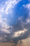 Beautiful cloud and sky sunlight ray while sunset in twilight time. Stock Image