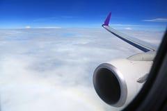 The Beautiful cloud sky view from aeroplane window.  stock image