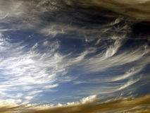 Beautiful clouds. Clouds in different colors royalty free stock photo