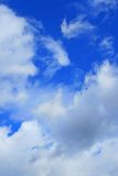 Beautiful clouds. Blue sky behind Royalty Free Stock Image