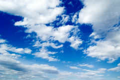 The beautiful clouds. The beautiful white clouds on background blue sky Royalty Free Stock Photography