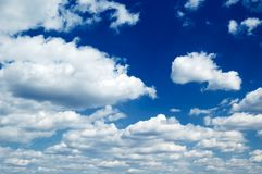 The beautiful clouds. Stock Photo