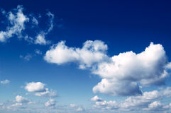 The beautiful clouds. The beautiful white clouds on background blue sky Royalty Free Stock Photo