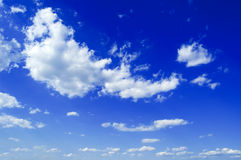 The beautiful clouds. The beautiful white clouds on background blue sky Royalty Free Stock Images