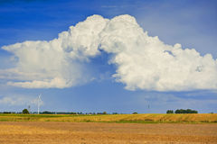 Beautiful clouds. Landscape with beautiful storm clouds Stock Photos