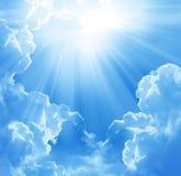 Beautiful clouds. Blue sky and beautiful clouds stock photos