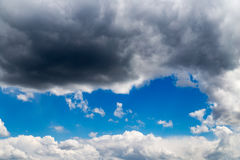 Beautiful clouds against blue sky as background Stock Photo
