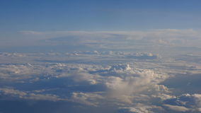 Beautiful clouds through an airplane window (LR Pan, No 5) stock video