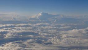 Beautiful clouds through an airplane window (RL Pan, No 4) stock video
