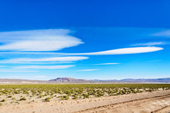 Beautiful clouds on Altiplano,Bolivia Royalty Free Stock Images