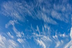 Clouds, blue skies, amazing sky. Beautiful clouds, blue skies, amazing sky stock photography