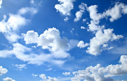 Beautiful clouds and blue sky Royalty Free Stock Photos