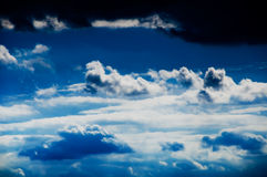 Beautiful clouds on the blue sky. Bring the rain royalty free stock photography
