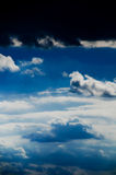Beautiful clouds on the blue sky. Bring the rain royalty free stock photos