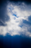 Beautiful clouds on the blue sky. Bring the rain royalty free stock images