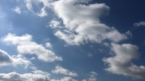 Beautiful clouds with blue sky background. Sky with clouds weather nature cloud blue. Blue sky with clouds and sun. stock video footage