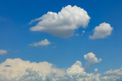 Beautiful clouds on the blue sky. Close up stock images