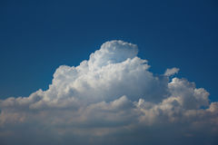 Beautiful clouds on blue sky. High detail cloud on blue sky background Royalty Free Stock Photos
