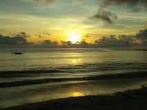 Where the ocean kisses the sky stock photo