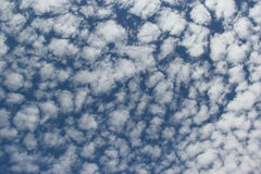 Beautiful Clouds on Bright Blue Sky Royalty Free Stock Image