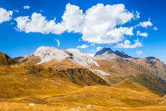 Beautiful clouds in the Caucasus mountains Stock Images